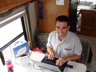 Jeff @ work at the dinette home office