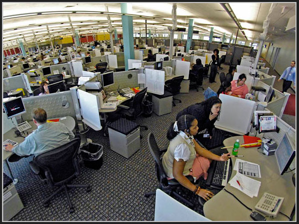 Verizon Wireless call centers belie the traditional image of row after row of non-descript workspaces.